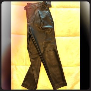 Zara Basic Faux Leather Pants (NWT)